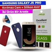 Jopus Samsung J5 Pro Kılıf + Temperli Kırılmaz Cam Ekran Koruyucu