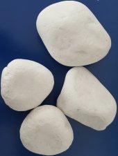 Beyaz Dolamit Taş 5 Kg 6 10 Cm Beyaz Dekorasyon Taşı Süs Taşı Çakıl Taşı Doğal Taş Bahçe Dekor Taşı Dolomit Taşı Dere Taşı