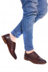 Detector Kahve Hakiki Deri Bağcıklı Erkek Casual Ayakkabı