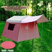 Tek Odalı Alttan Fermuarlı Suni Deri Kamp Çadırı