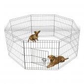 Lion Kedi Ve Köpekler İçin Panel Çit 61x61cm 8 Parça