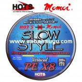 Hots & Momoi Slow Style 8x İp Misina Pe 1.5 0.20mm 25lb 300mt