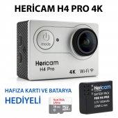Hericam H4 Pro 4k Aksiyon Kamera Hafıza Kartı Ve Batarya Hediyeli