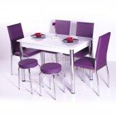 Mutfak Masa Takımı Masa Sandalye 4 Sandalye + 2 Tabure + Masa