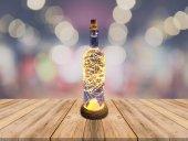 Dekoratif Cam Şişe İçerisinde 50 Peri Led Pilli Led Aydınlatma