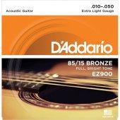 Daddarıo Ez900 Akustik Tel Set Extra Light (.010) Ez900 Dadario
