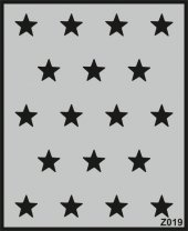 Z019 Duvar Stencil Şablon 60cm X 50cm