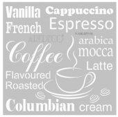 Artdeco Stencil Kahve Kelimeleri 30x30cm St115