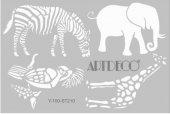 Artdeco Stencil A4 21x29cm Hayvanlar Alemi 2 St210