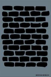 Rich Wall (Duvar) Stencil 50x70cm 010