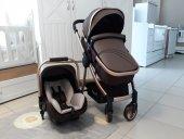 Prava Canton 3in1 İki Yönlü Travel Sistem Bebek Arabası Gold Brown Kahve