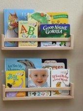 Ceebebek Ahşap Duvar Raf Bebek Çocuk Odası Montessori Kitaplık 2nat40 Ücretsiz Kargo