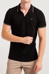 Avva Red Erkek Polo Yaka T Shirt Siyah