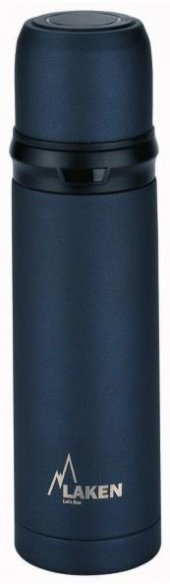 Laken İspanya Üretimi Thermos İnox 0,50l Çelik Termos Black Lk180