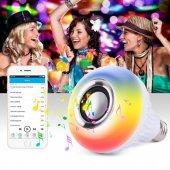 Bluetooth Hoparlör Akıllı Led Ampül Lamba 7w Led 5w Rgb 3w Ses