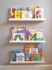 Ceebebek Ahşap Duvar Raf Bebek Çocuk Odası Montessori Beyaz Kitaplık 3byzl40 Ücretsiz Kargo