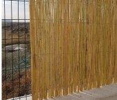 Bambu Cit 1x4,5 4,5 M2 Kamış Çit Dekoratif Çit Rulo Bambu Çit Hasır Çit