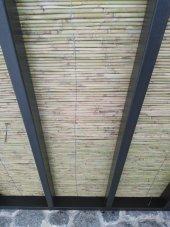 Ahşap Çit Eni 2 Metre Uzunluk 4,5 Metre Dekoratif Çit Kamış Çit Bambu Çit Rulo Bambu Çit Hasır Çit