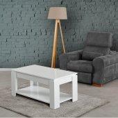 Pasific Home Shelf Sehpa Parlak Beyaz