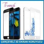 ıphone 7 İçin Çerçeveli 3d Ekran Koruyucu Beyaz