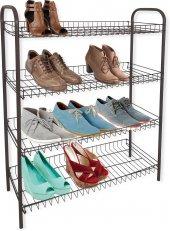 4 Katlı Metal Ayakkabılık