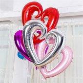 Folyo Kalp Balon 90 Cm