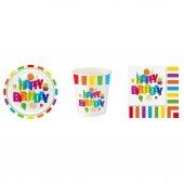 Renkli Doğum Günü Seti