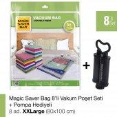 Magıc Saver Bag 8li Set Xxlarge Vakumlu Poşet Pompa Hediyeli