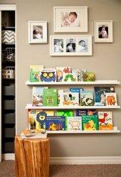 Ceebebek Ahşap Duvar Raf Bebek Çocuk Odası Montessori Beyaz Kitaplık 3byzl80 Ücretsiz Kargo