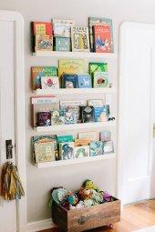 Ceebebek Ahşap Duvar Raf Bebek Çocuk Odası Montessori Beyaz Kitaplık 4byzl80 Ücretsiz Kargo