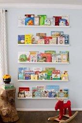 Ceebebek Ahşap Duvar Raf Bebek Çocuk Odası Montessori Beyaz Kitaplık 5byzl80 Ücretsiz Kargo