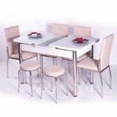 Yemek Takımı Mutfak 4 Sandalye + 2 Tabure + Açılır Masa