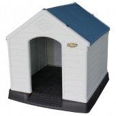 201900 Doglife Salerno 88 Plastik Köpek Kulübesi Kapısız 88x79x82
