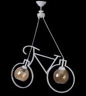 Bisiklet 2 Li İthal Beyaz Camlı Avize