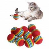 Kedi Oyuncağı Renkli Toplar 3,5 Cm Tekli