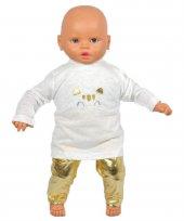 Kız Bebek Şişme Yelekli Sarı Lüks Üçlü Takım
