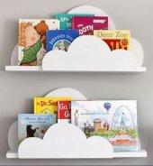 Ceebebek Ahşap Duvar Raf Bebek Çocuk Odası Montessori Bulut Kitaplık 2byzbltk3725