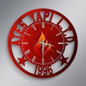Firmalara Özel Logolu Ahşap Promosyon Duvar Saati (10 50 100 Adet) A2