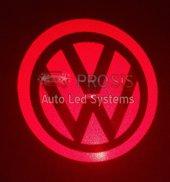Volkswagen Bagaj Arkası Dış Yan Ayna Altı Cree Kırmızı Led Logo