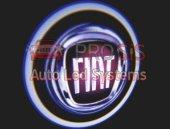 Fiat Araçlar İçin Pilli Yapıştırmalı Kapı Altı Led Logo