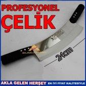 Paslanmaz Çelik Profesyonel Çift Kollu Zırh Bıçağı Adana Urfa Keb