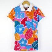 Camo Flowers Unisex Polo T Shirt Tişört