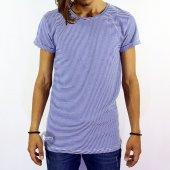 King Brothers Çizgi Yazlık Pamuksu Tshirts Tişört