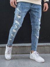 2y Buz Mavı Lazer Effect Pantolon Limited.