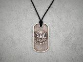 Osmanlı Bayraklı Uzun Kolye Gümüş