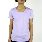 2018 Basic Sıfır Derin Yaka Colors Pamuklu T Shirt
