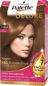 Palette Deluxe Saç Boyası Renk Altın Karamel 7 554