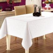 Prado Gofre Dertsiz Masa Örtüsü 150x220 Beyaz
