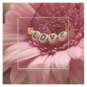 Dekoratif Uv Baskılı Elektrik Düğmesi Priz Kapı Zili Love Çiçek