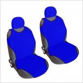 2 &#039 Li Set Oto Atlet Tipi Koltuk Kılıfı Kaliteli Sport Üniversal Mavi
